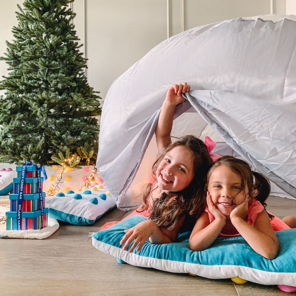 Christmas in July indoor camping