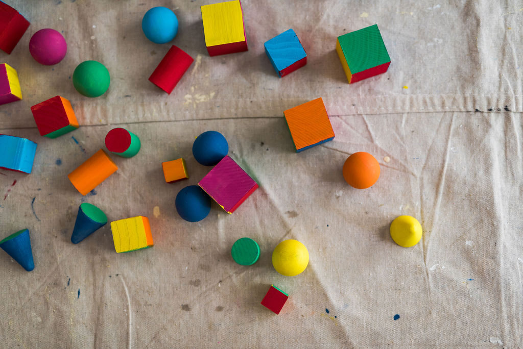 painted assorted wooden blocks and shapes