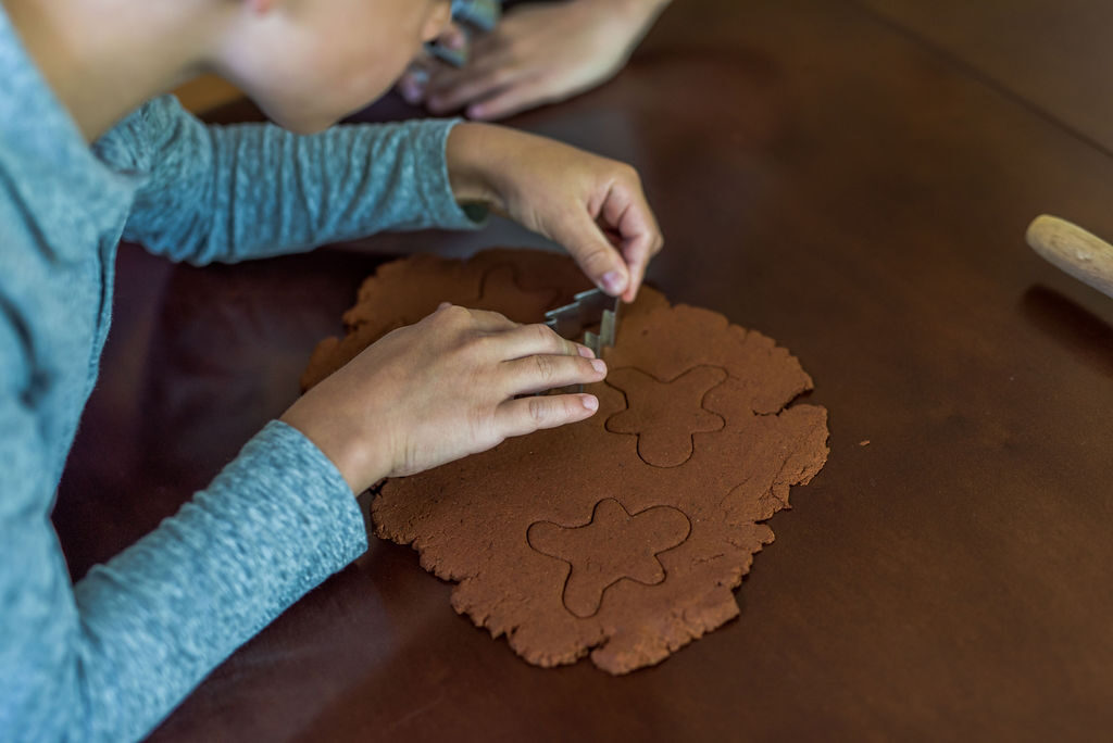cutout shapes using cookie cutters