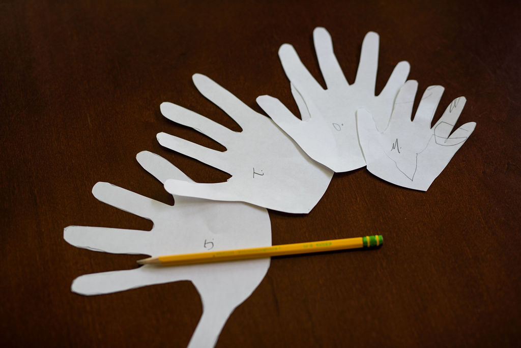 handprint paper cutout templates