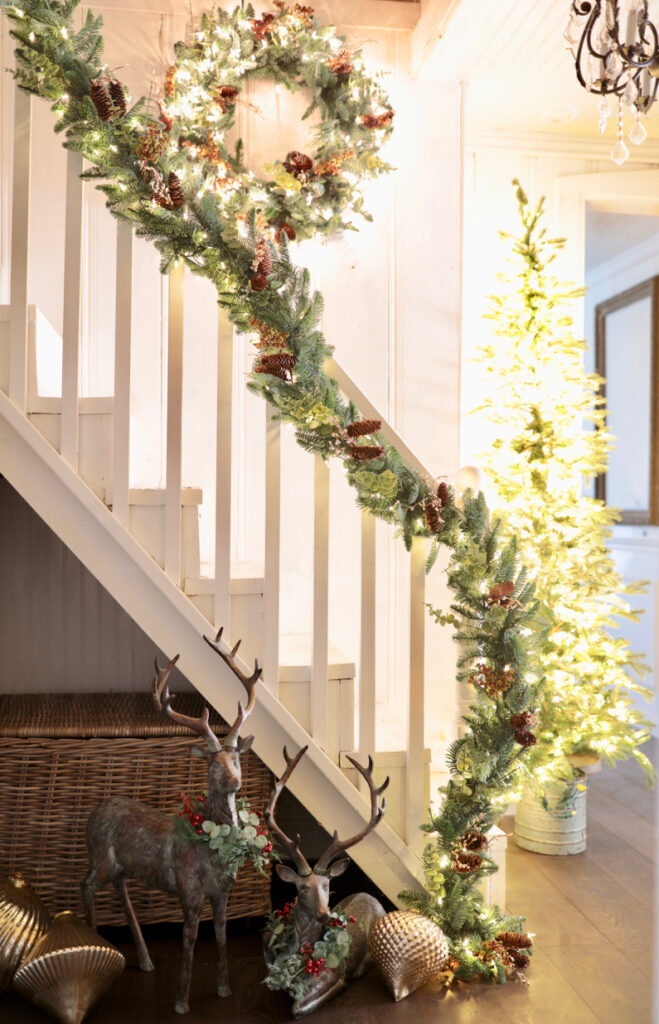 wintry woodland garland and wreath
