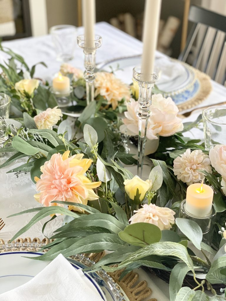 candle sticks and candleholders as table decorations