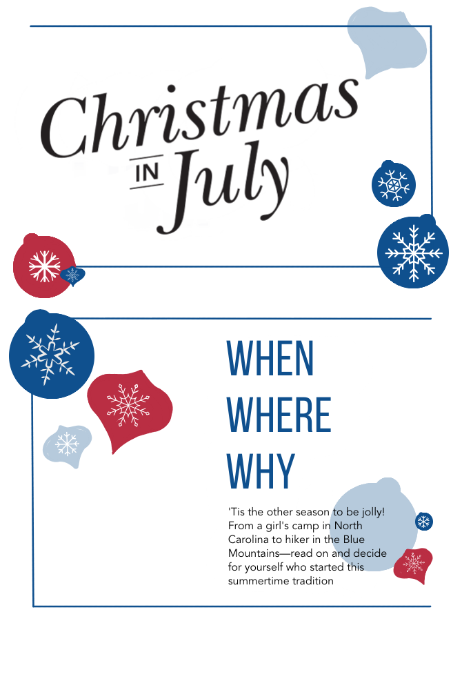 How did Christmas in July start infographic