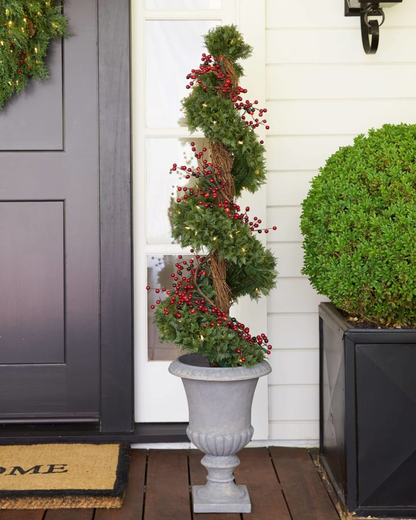 balsam hill beacon hill outdoor cypress topiary