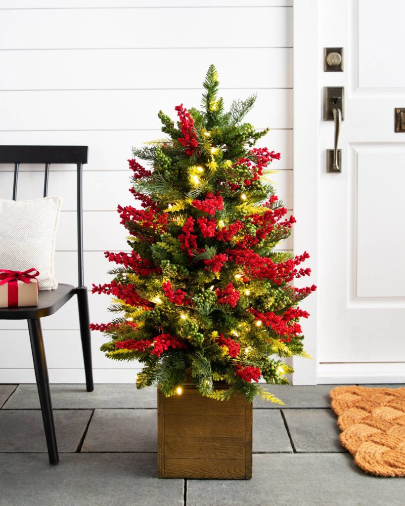 balsam hill outdoor berry burst potted tree