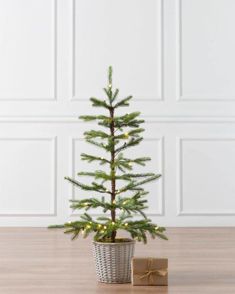 balsam hill alpine tree in basket